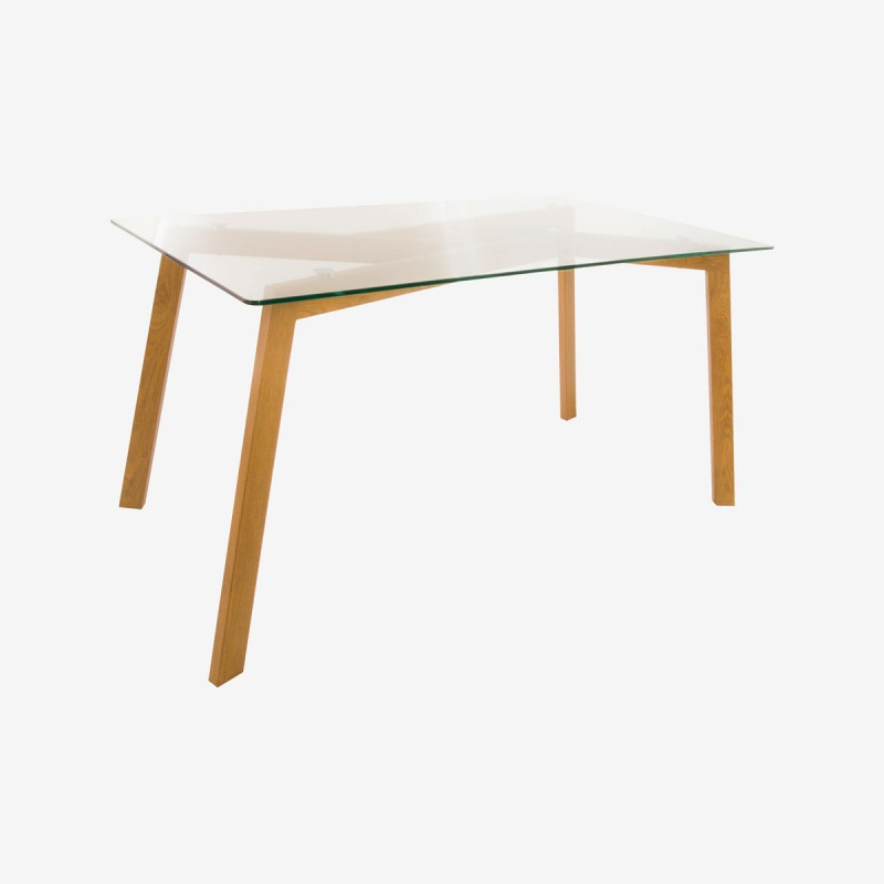 Vue de trois-quarts de la table JAHO