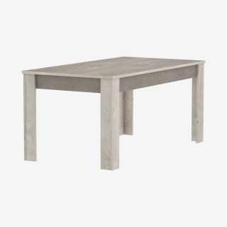 Vue de trois-quarts de la table BALEARES