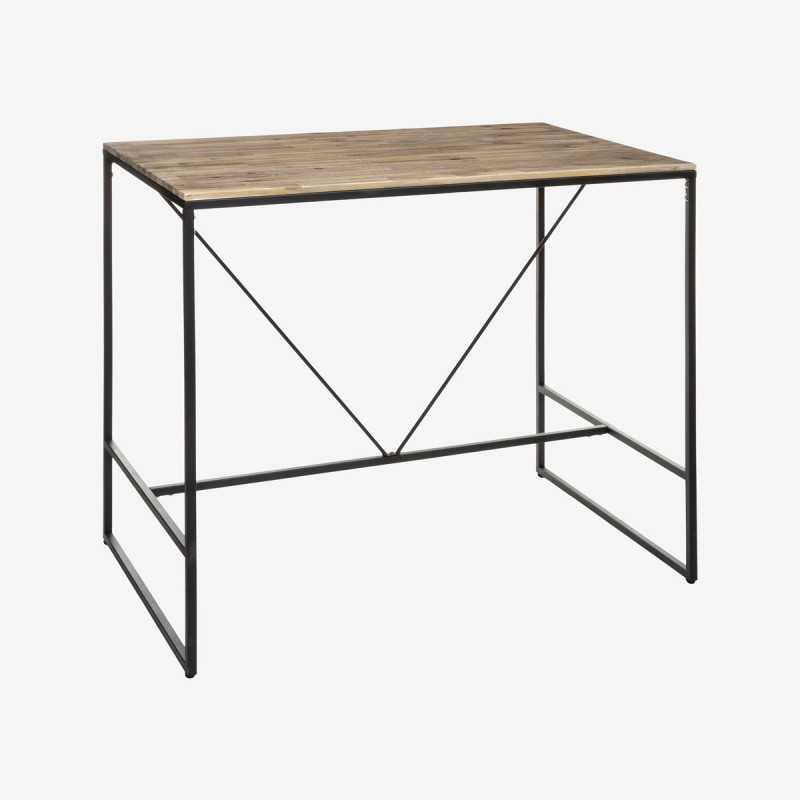 Vue de trois-quarts de la table de bar JIDENA