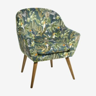 Vue de trois-quarts du fauteuil JANGO