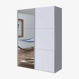 Vue de face de l'armoire coulissante cosmo