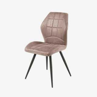Vue de trois-quarts de la chaise EDUFFY