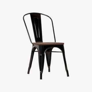 Vue de trois-quarts de la chaise ROSARIO