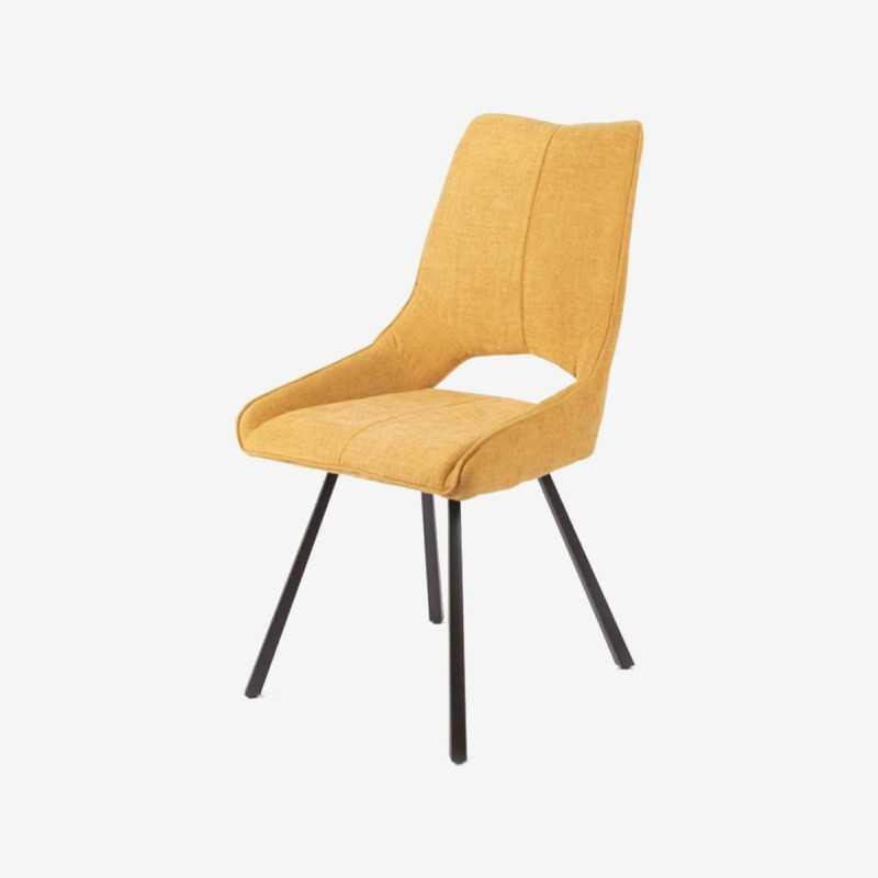 Vue de trois-quarts de la chaise ALIBEL