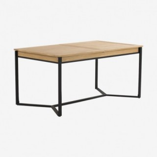 Vue de trois-quarts de la table repas KENTON