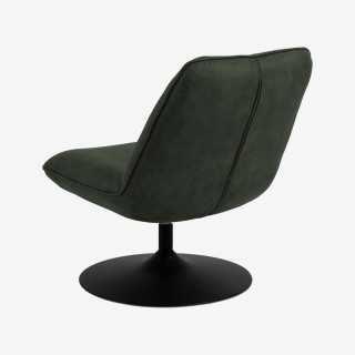 Vue de dos du fauteuil pivotant ANNA