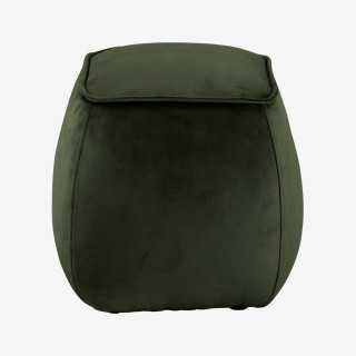 Vue de face du pouf AMIA cubique