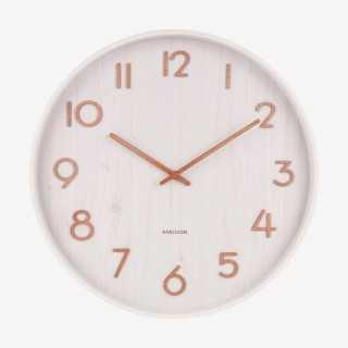 Vue de face de l'horloge PURE