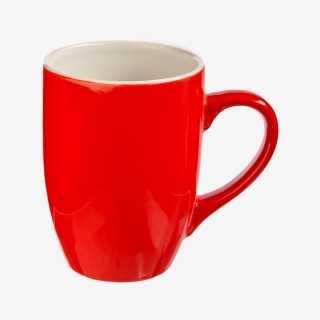 Vue de face du mug COLORAMA rouge