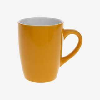 Vue de face du mug COLORAMA jaune