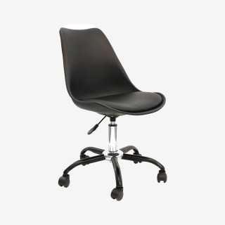 Vue de trois-quarts de la chaise de bureau CALIX