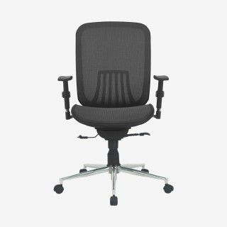 Vue de face de la chaise de bureau DAXIO