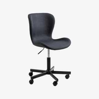 Vue de trois-quarts du fauteuil de bureau ATILA