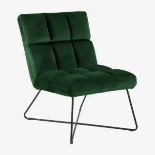Vue de trois-quarts de la chaise longue ALICIA