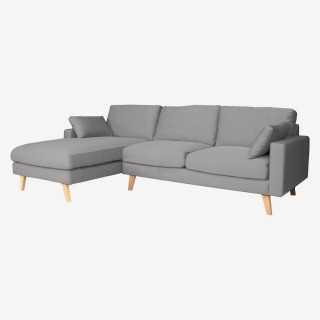 Vue de trois-quarts du canapé d'angle STOCKHOLM gauche