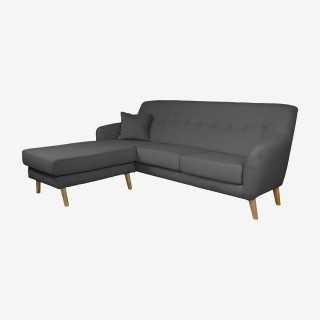 Vue de trois-quarts du canapé d'angle ALEXIS