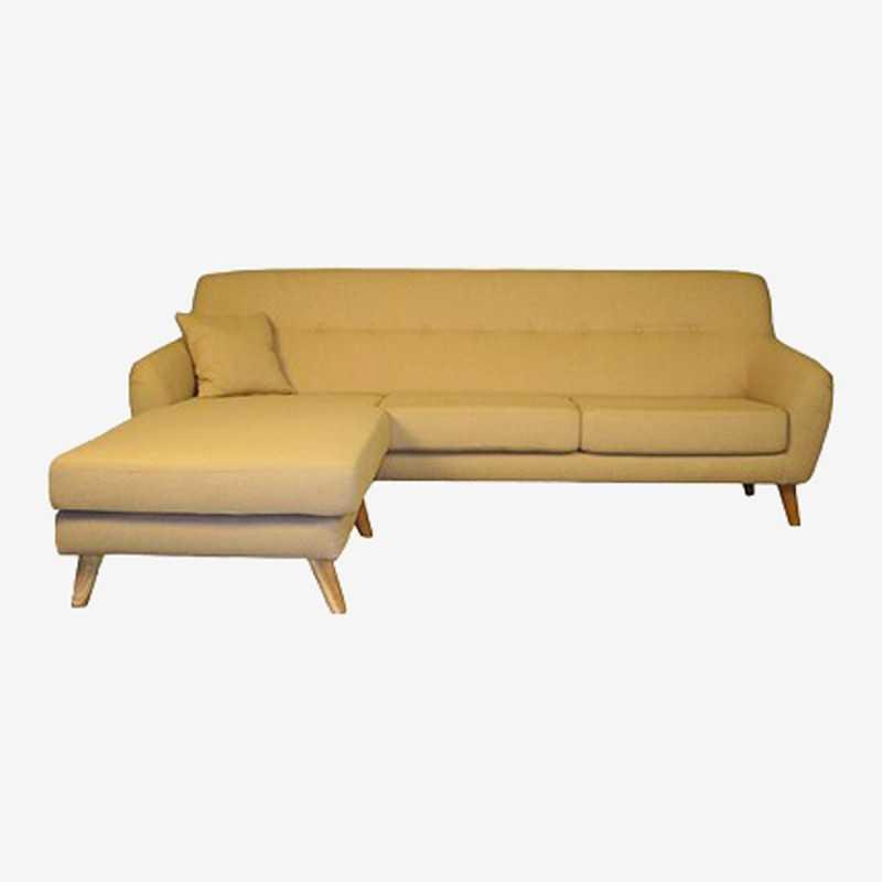 Vue de face du canapé d'angle ALEXIS