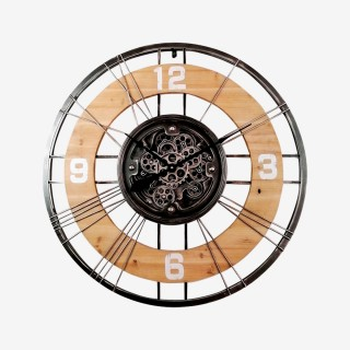 Vue de face de l'horloge TWISTED