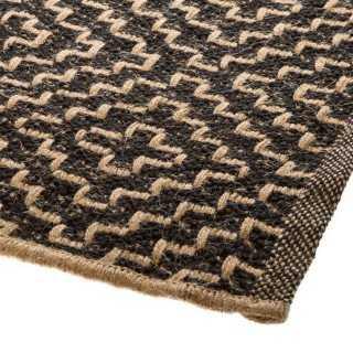 Vue détaillée du tapis JUTE