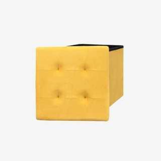 Vue de face du coffre pouf POOF ouvert