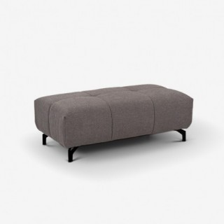 Vue de face du pouf anthracite Friendly