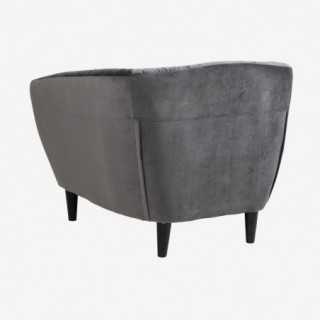 Vue de dos du fauteuil ALOVA gris