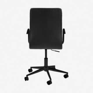 Vue de dos du fauteuil de bureau ASLOW noir