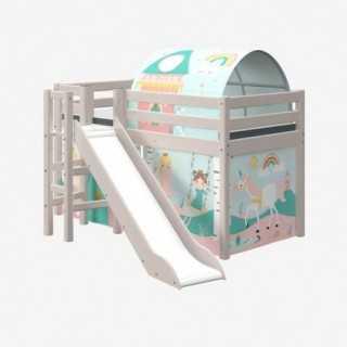 Vue de la cabane thème Princesse sur lit COMBI