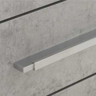 Vue détaillée sur un tiroir du caisson de rangement 4 tiroirs SYSTEM gris béton