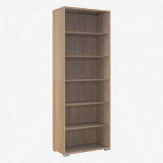 Vue de trois-quarts de l'étagère 80x214 cm SYSTEM chêne sonoma