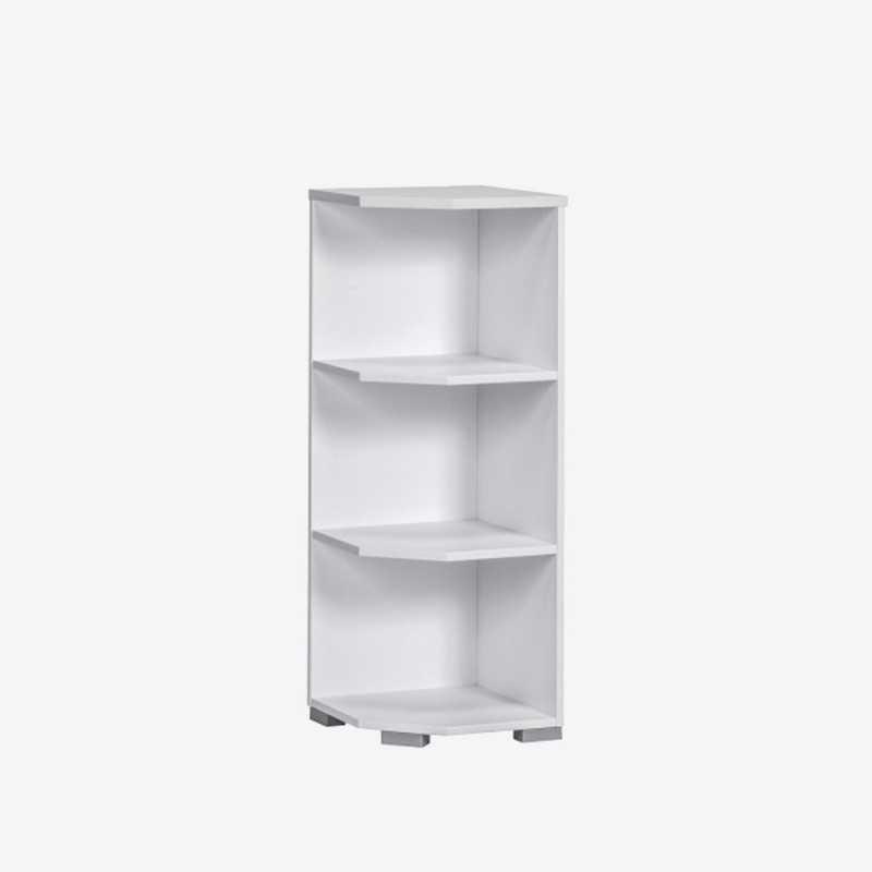 Vue de face de l'étagère 40x110 d'angle SYSTEM