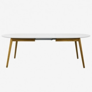 Vue de face de la table extensible ovale DOT