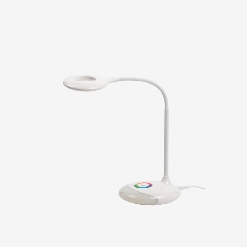 Vue de trois-quarts de la lampe de bureau ROLL