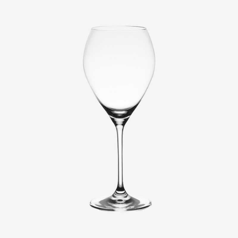 Vue de face du verre à eau SILHOUETTE