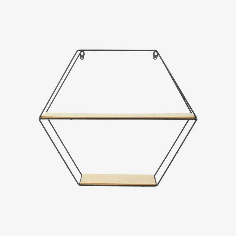 Vue de face de l'étagère héxagonale FILAIRE