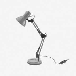 Vue de trois-quarts de la lampe de bureau HOBBY