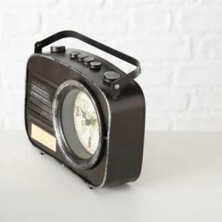 Vue de trois-quarts de l'horloge RADIO