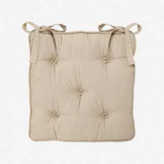 Vue de face de la galette de chaise BOUTONS