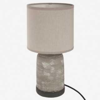 Vue de face de la lampe à poser BETON