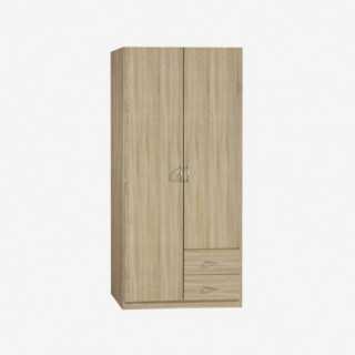 Vue de trois-quarts de l'armoire CASE 2 portes 2 tiroirs
