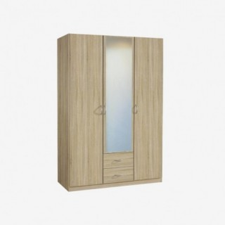 Vue de trois-quarts de l'armoire CASE 3 portes 2 tiroirs