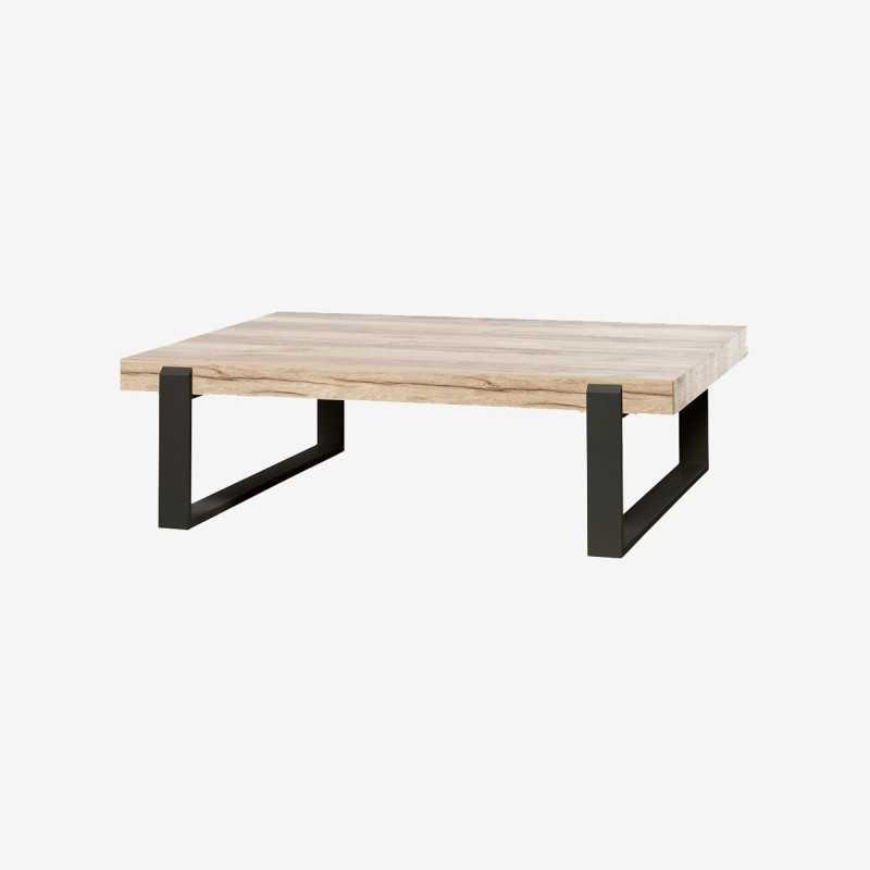 Vue de trois-quarts de la table basse EVANI