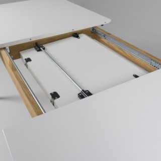Vue détaillée sur le rail de la table extensible 180 cm DOT
