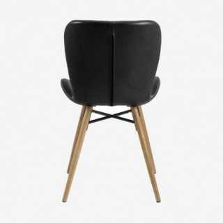 Vue de dos de la chaise ATILA noir