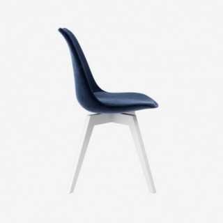Vue de profil de la chaise ALLY avec pied BESS