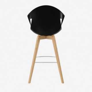 Vue de dos de la chaise ALLY avec pied BESS
