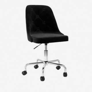 Vue de trois-quarts de la chaise ALLY avec pied MIMI