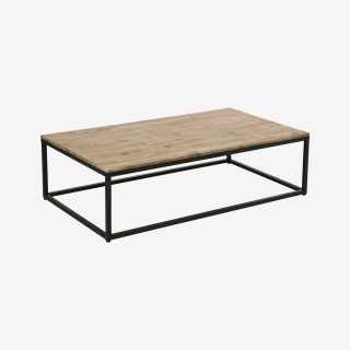 Vue de trois-quarts de la table basse JIDENA