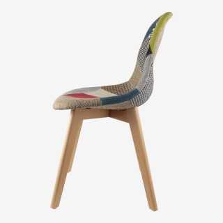 Vue de profil de la chaise PATCHWORK