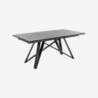 Vue de trois-quarts de la table extensible CHARLY